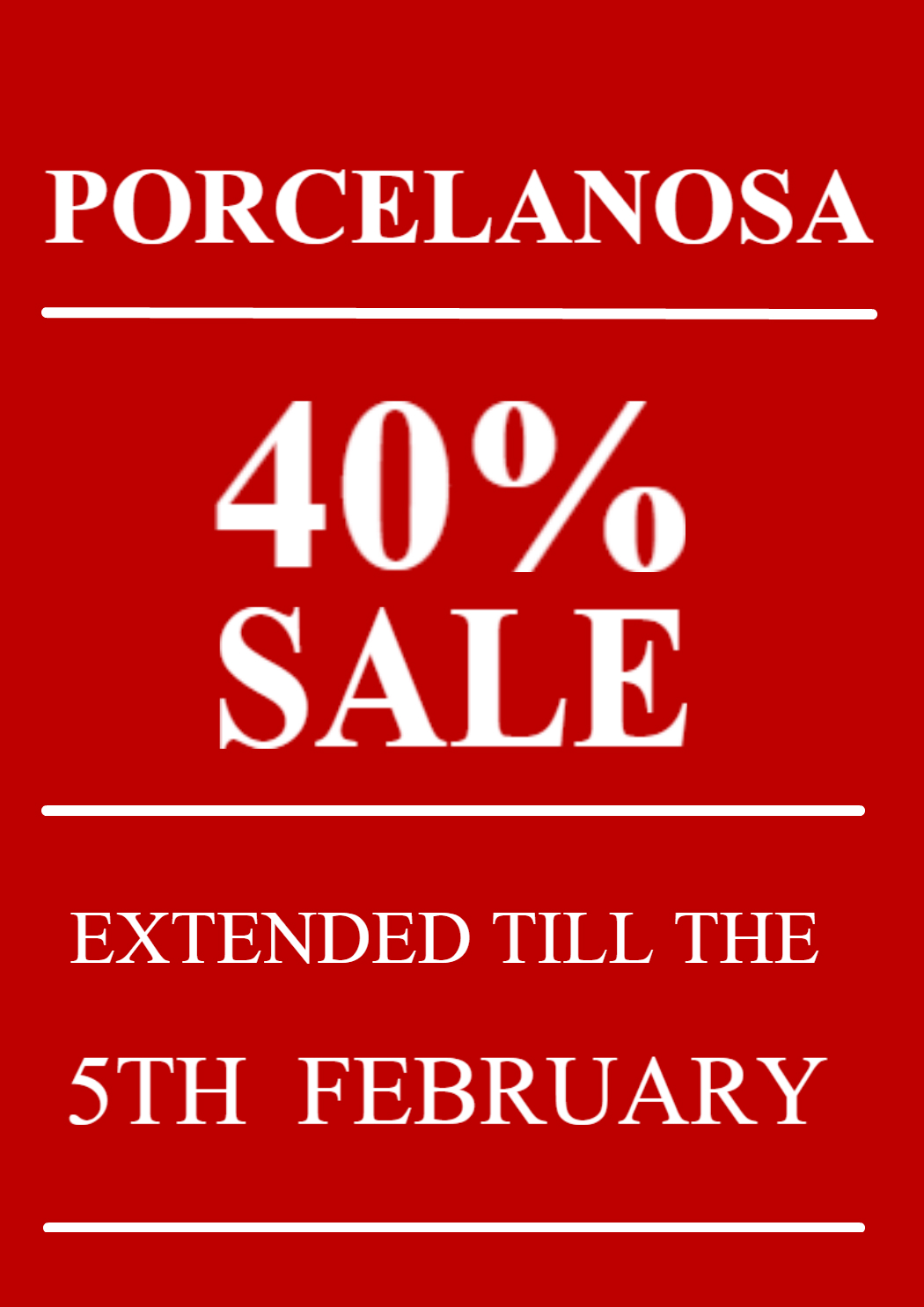 PORCELANOSA EXTENDED