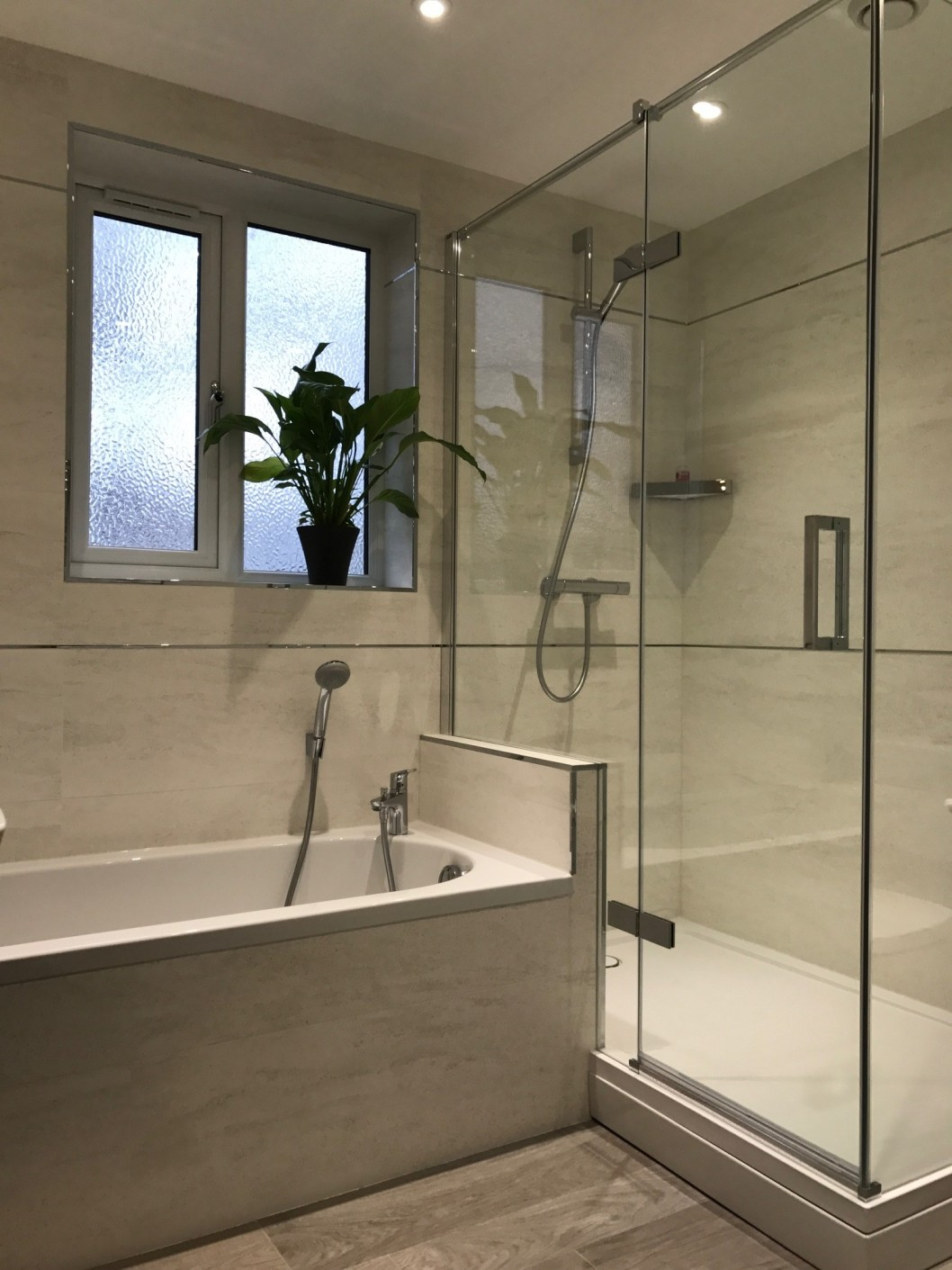 Stylish modern main bathroom from Curtis brothers